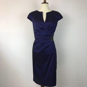 Eliza J Side Ruched Jeweled Dress
